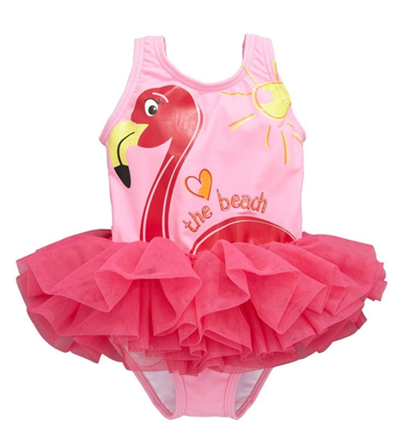 ad265d2069f46 Get Quotations · Carkoo Baby Girls One Piece Swimsuit Cute Swan Bathing  Suit Tutu Dress Swimwear