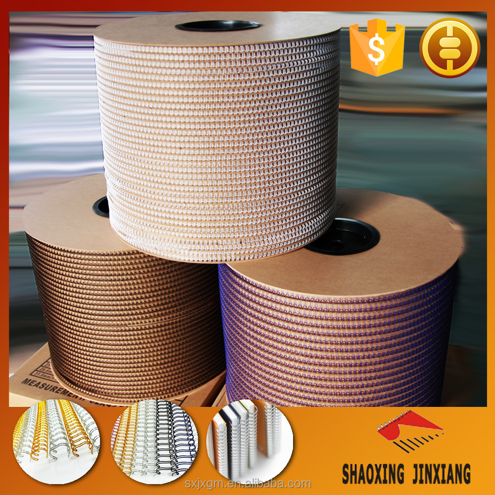 Offer high quality double loop wire for notebook binding