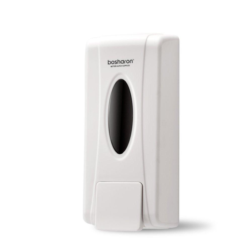 DULPLAY Soap Dispenser,Abs plastic,Wall-mounted,Free glue Sticky Kitchen Soap box Bathroom Manual double head Hotel Shampoo box -A(600ML) 22x6.2x7cm(9x2x3inch)