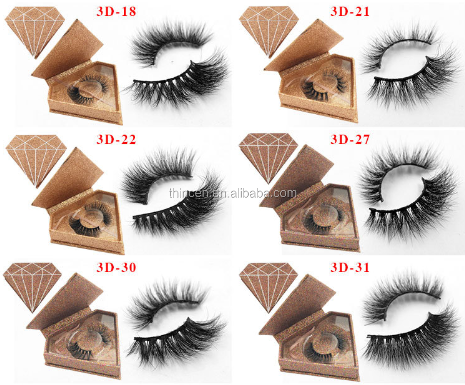 Glitter Diamond Shape Packaging Create Your Own Logo Strip Eye Lash
