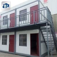 foldable office container house home 3 in 1 prefab folding container house