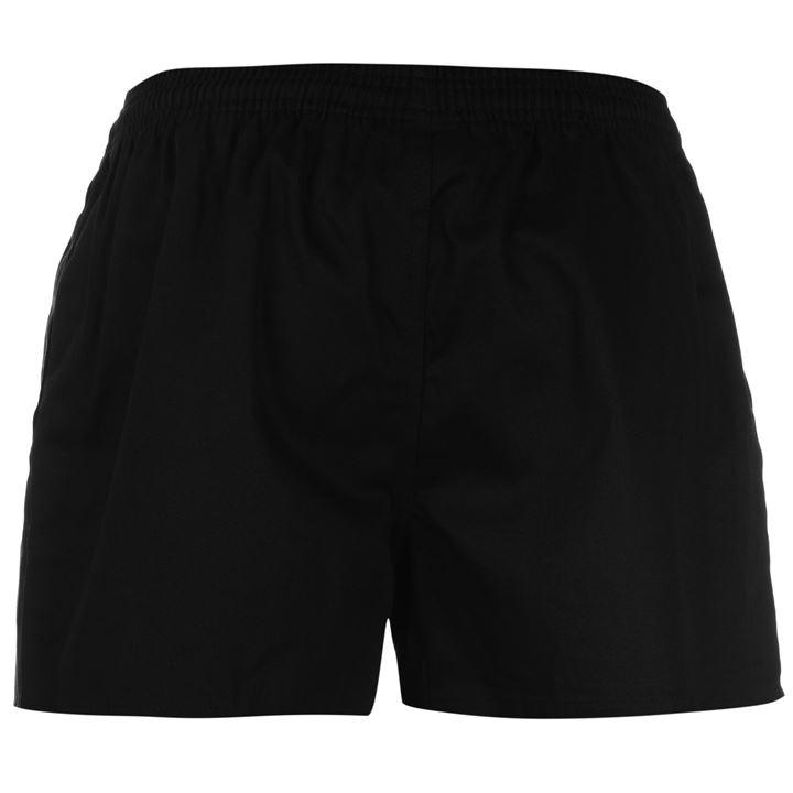 OEM Service Best Quality Breathable Durable Black Rugby Shorts with Pocket