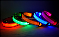 Nylon Pet LED Dog Collar Night Safety LED Flashing Glow LED Pet Supplies Dog Cat Collar Small Designer Products for Dogs Collar