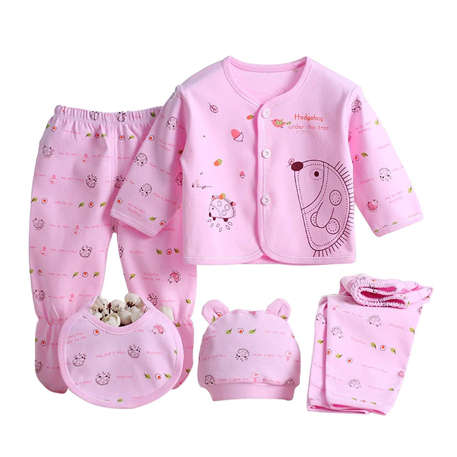 f952b7f532743 Get Quotations · XWDA Baby Infant Cotton Clothes Set 5Pcs Unisex Newborn  Outfit Infant First Christmas Xmas Christening Gifts