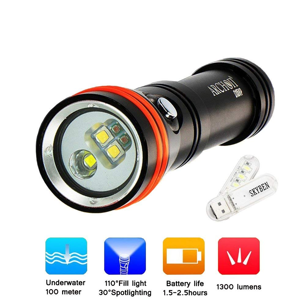 Led Lighting Xm L2 Underwater Worklight Led Scuba Diving Flashlight 26650 Or 18650 Lantern Lampe Torche Charge Waterproof Torch Flashlight Less Expensive