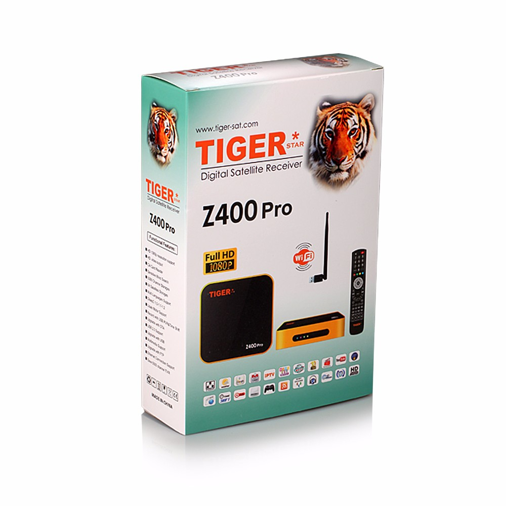 Tiger Z400 Digital Satellite Receiver Free 1 Year Arabic Live channels Movies