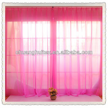 bright coloured wide width polyester sheer curtain fabric