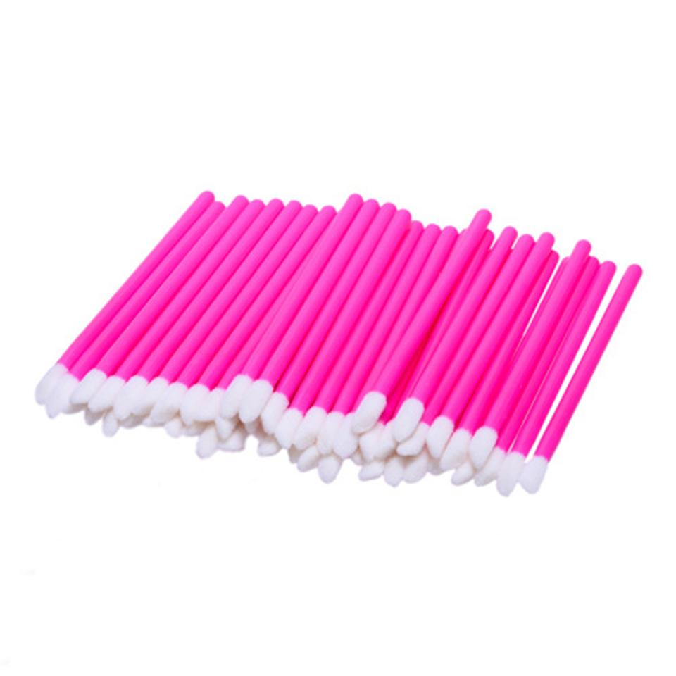 Factory Cheap Price Lip Gloss Brush Lip stick Disposable Lip Makeup Brushes (50 pcs/pack)