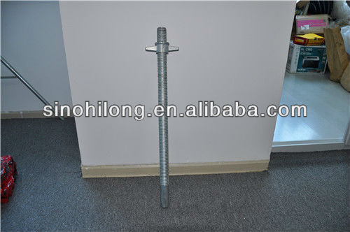 adjustable base jack with electric Galvanized surface finish