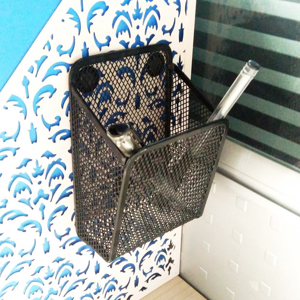 Buy Iron Metal Basket Mail Storage Holder W Hooks Wall