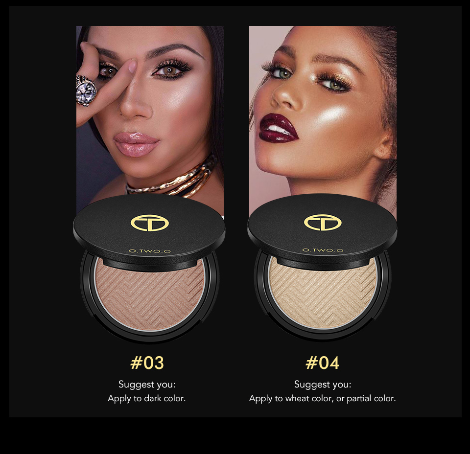 O.TWO.O Makeup Face Highlighter Shimmer Illuminator Highlighter Powder