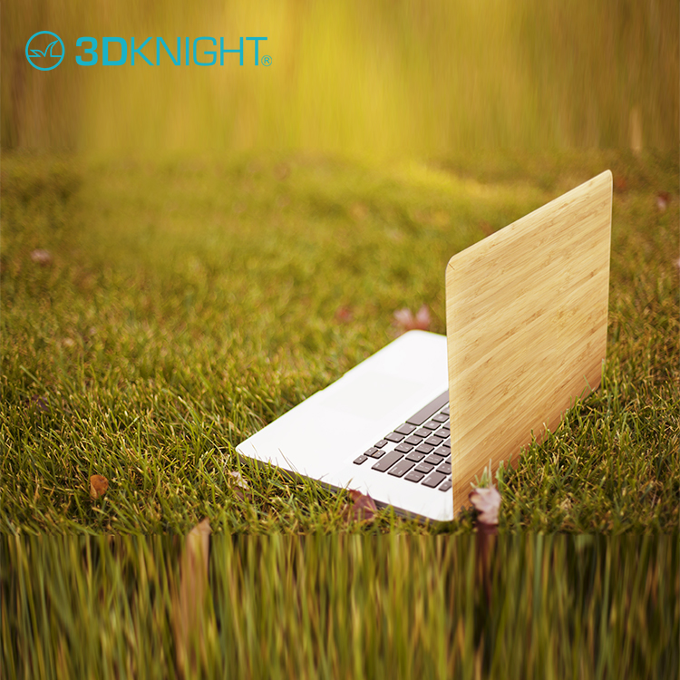 Attractive appearance bamboo wood skin for macbook pro 12 13