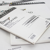 BN-5205 hot sale A3/A4/A5 custom fashion design hardover tattoo drawing art sketch book/pad