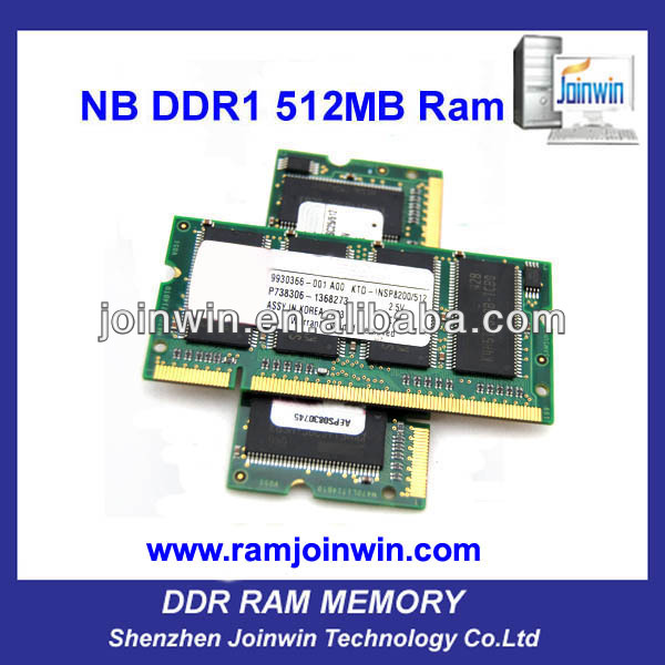 ETT original chips sodimm ddr 512mb ram scrap ships for sales