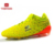 Durable Comfortable Indoor Man PU Spike Football Running Soccer Shoe