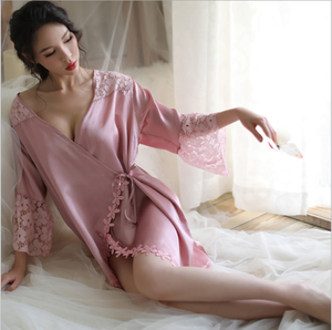 elegant robe femme victoria secret lingerie sexy kimono sleepwear