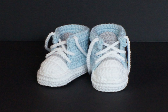 Baby Boys First Walkers Handmade Crochet Sports Tennis shoes Infant Toddler Knitted Sneakers Newborn Crib Booties