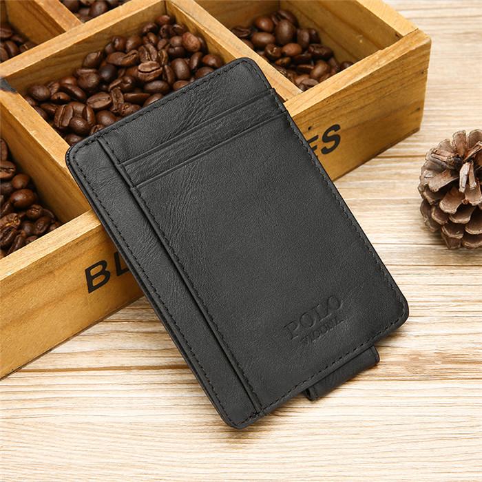 Vicuna Polo Brand Fashion Brown Ultrathin Money Clips Rfid Blocking Slim  Wallet - Buy Slim Wallet,Rfid Leather Slim Wallet,Rfid Blocking Slim Wallet