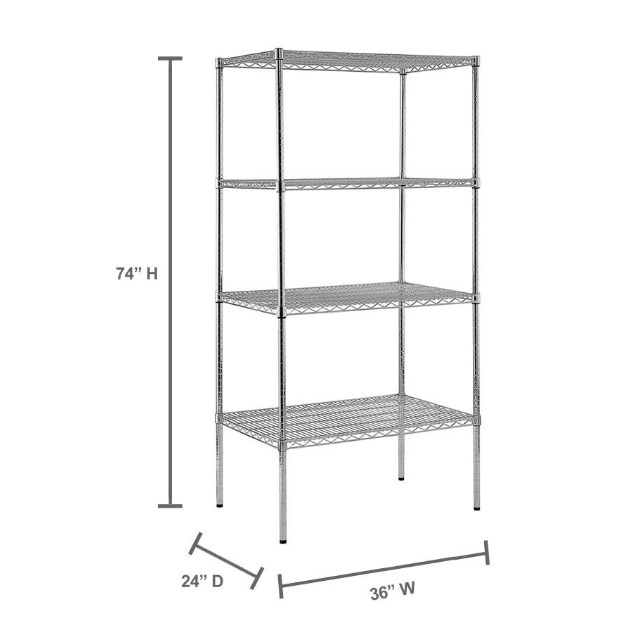 chrome wire shower shelf