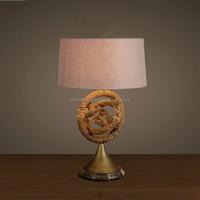 rope metal antique industrial light vintage table lamp