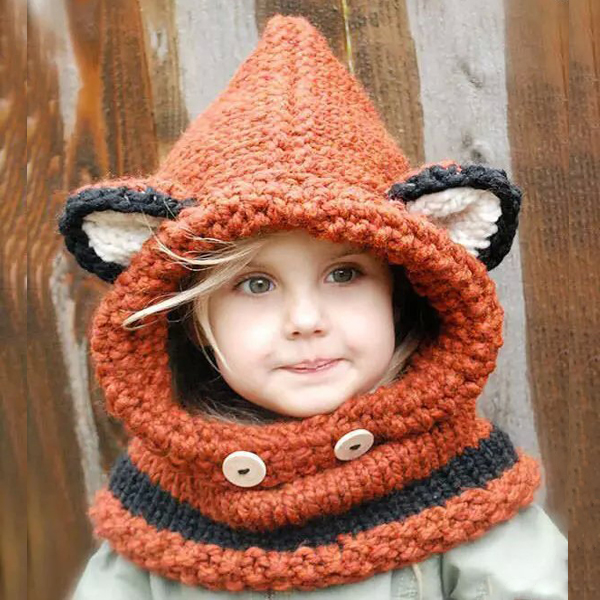 High quality wholesale customized cute design animal handmade kids beanies hat for winter