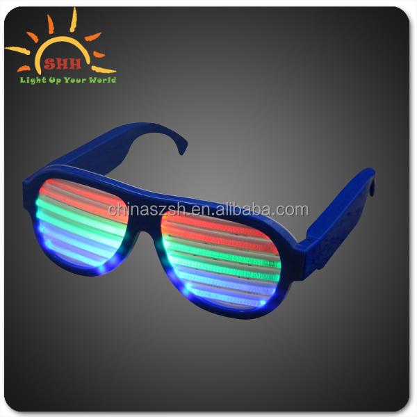 c185a7836236 Shutter Led Sunglasses Flashing Led Party Glasses