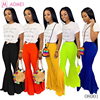 O8001 Wholesale women fashion candy solid color long flare pants