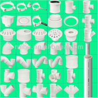PVC pipe fittings for U-PVC Drainage Pipe System