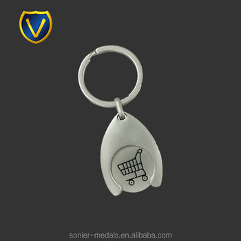 Wholesales cheap custom enamel token caddy coins keychain