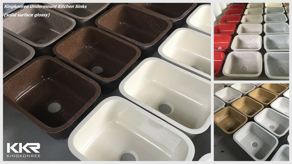 Under Counter Acrylic Solid Surface Marble Frank Kitchen Sink ...