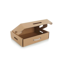 Professional manufacturer Best quality cheap printed corrugated packing packaging box with handle for notebook or laptop