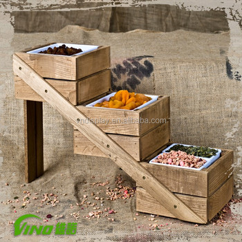 Supermarket Retail Vegetable Assembled Wood Display Stand Rack Cabinet3 Tiers Flooring Fruit Display Storage Box Wholesale Buy Outdoor Wood Storage