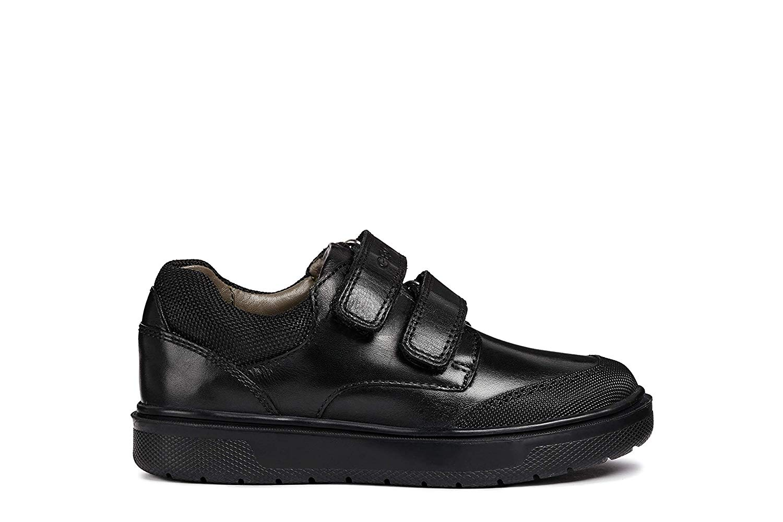 dd19b85f426 Get Quotations · Geox Boys Junior J Riddock Leather School Uniform Shoes