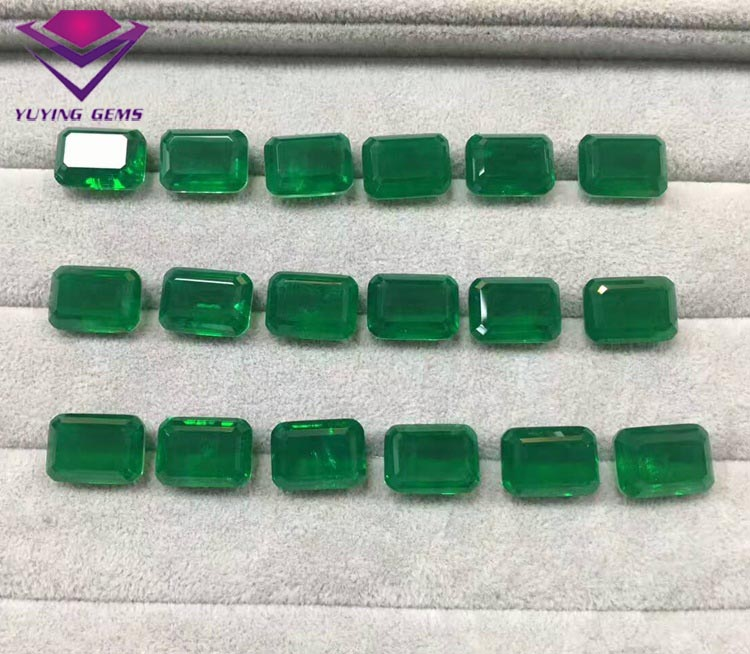 grown columbian asscher emeraldasscher lab loose emerald cultured