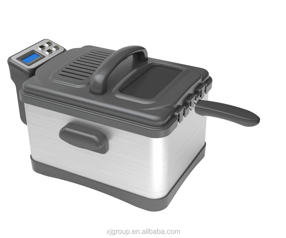 XJ-15308 with detachable tank and panel ,SS housing for 5L 2000W induction deep fryer