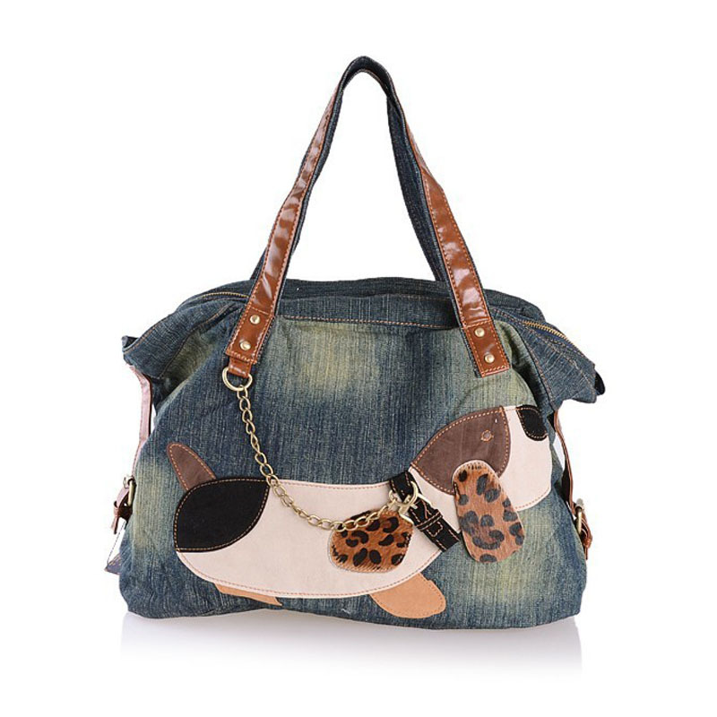 Get Quotations · Fashion dog denim bag women designer handbags high quality  shoulder bags ladies hand bag bolsa feminina 3e918bf09a2e7