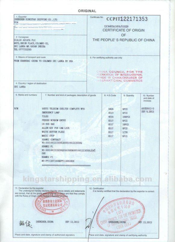 Finden Sie Hohe Qualität Zertifikat Herkunft Form B Hersteller und ...