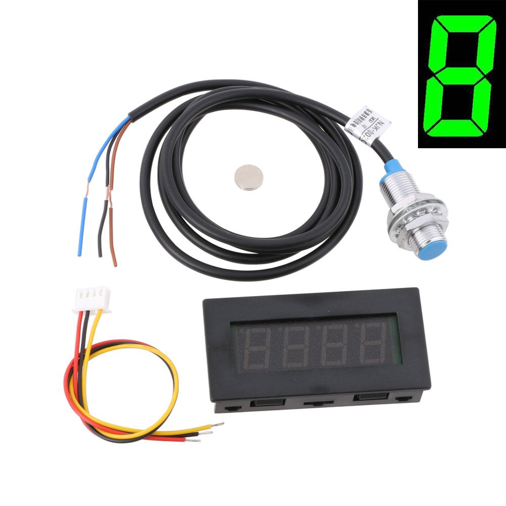 Cheap Rpm Switch Find Deals On Line At Alibabacom In This Circuit A Nonlocking Push Is Used To Activate Load Get Quotations Lyws 4 Digital Green Led Tachometer Speed Meter Npn Hall Proximity Sensor W