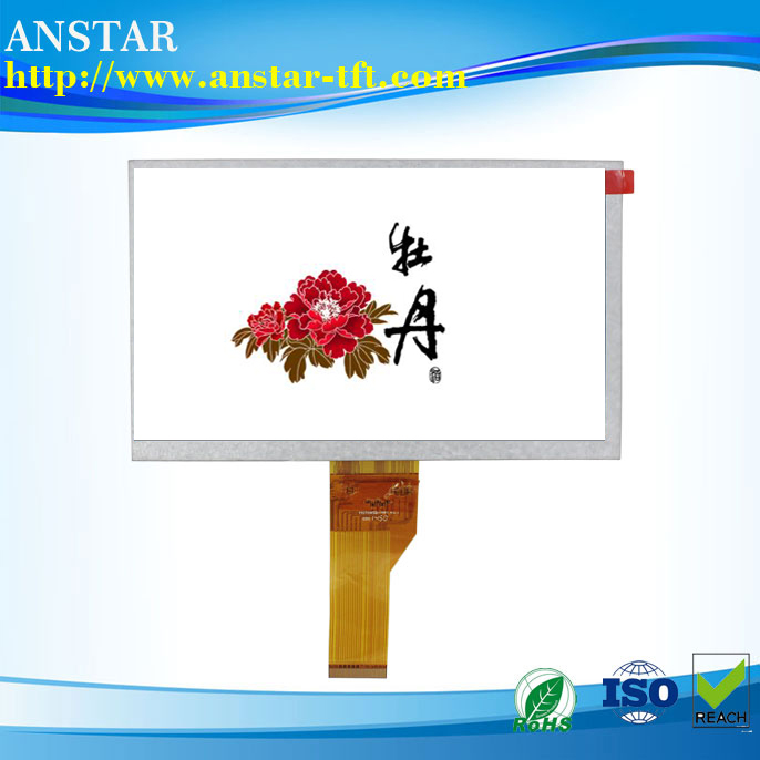 High Resolution 1024x600p TFT Square 7 Inch LCD Monitor with LVDS interface
