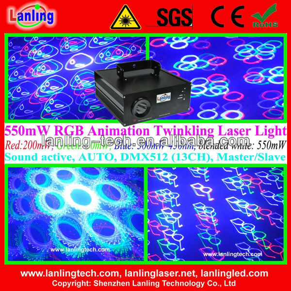 professional animation & twinkling RGB Logo project light disco laser