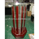 clear acrylic lectern with wooden base
