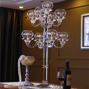 Tall 9 arms wedding crystal table centerpieces candelabra