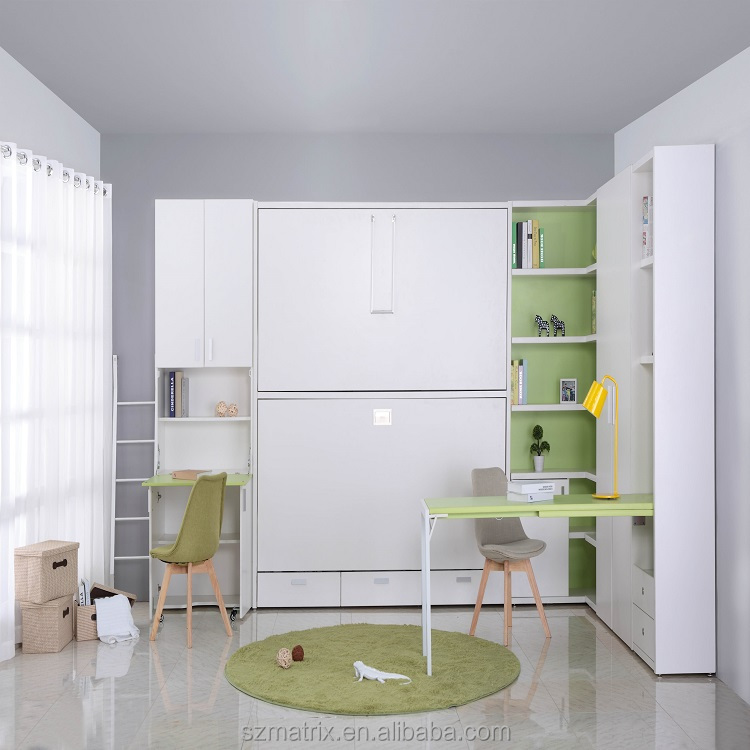 Modern Bedroom Furniture,Twins Murphy Bed Wall Bunk Bed For Kids - Buy  Double Bunk Beds For Kids,Mdf Kid Furniture Bunk Beds,Murphy Double Bunk  Bed ...