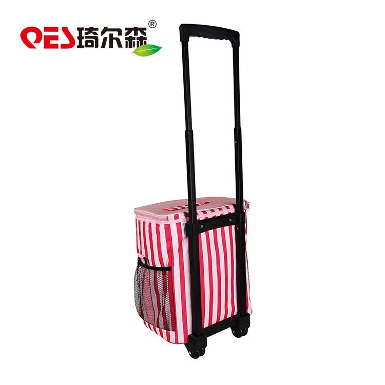 Wholesale custom with wheels stable insulated wine rolling cooler bag
