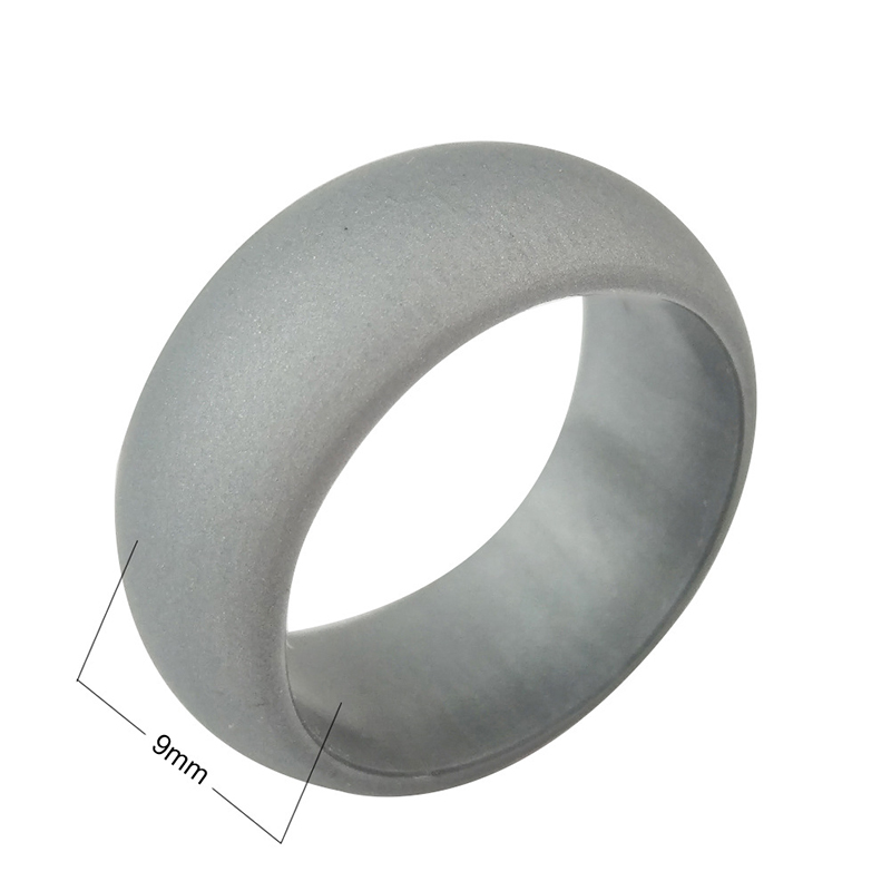 sport <strong>silver</strong> or gold glitter silicone rubber finger ring for man