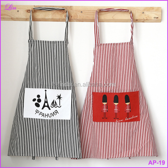 Free Shipping by DHL/FEDEX/SF Apron Fashion Linen Stripe Apron Cafe Waiter Kitchen Cook New Tool Kitchen Apron