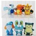 3pcs lot Pikachu lugia charizard Froakie mudkip Snorlax Plush stuffed toys dolls
