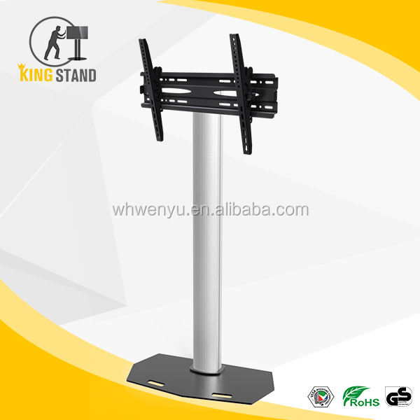 Television monitor display stand, mobile LCD TV mount bracket cart