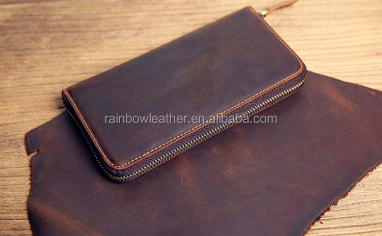 Wholesale crazy horse style finished buffalo crust leather