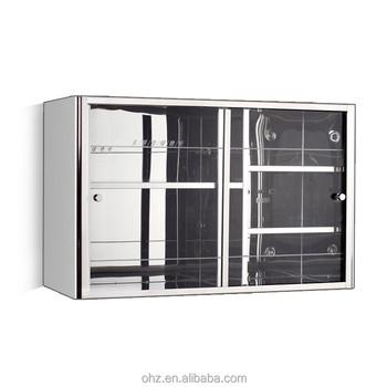 Kompakte Edelstahl Bad Glasschiebetür Spiegelschrank - Buy ...